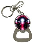 Red 3d  Computer Work Bottle Opener Key Chains Front