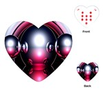 Red 3d  Computer Work Playing Cards (Heart)  Front