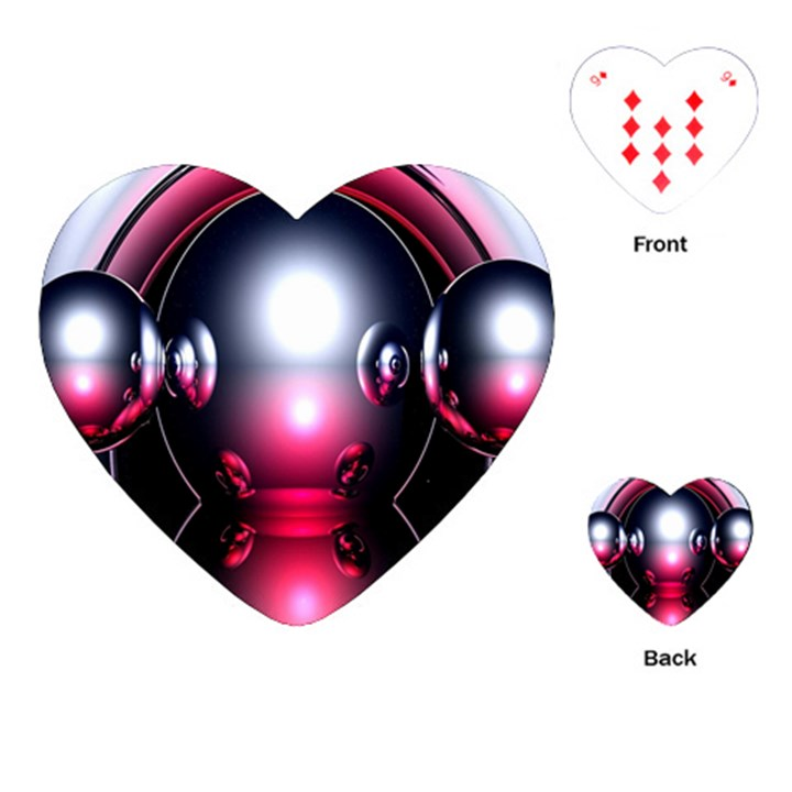 Red 3d  Computer Work Playing Cards (Heart)