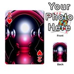 Red 3d  Computer Work Playing Cards 54 Designs  Front - Heart2