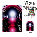 Red 3d  Computer Work Playing Cards 54 Designs  Front - Spade5