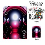 Red 3d  Computer Work Playing Cards 54 Designs  Front - Spade7