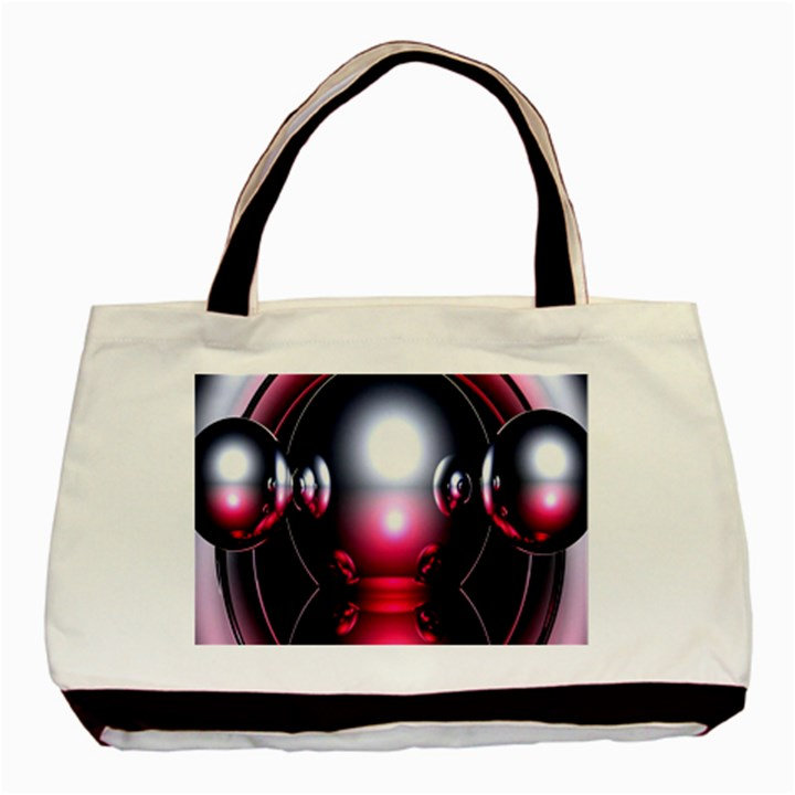 Red 3d  Computer Work Basic Tote Bag