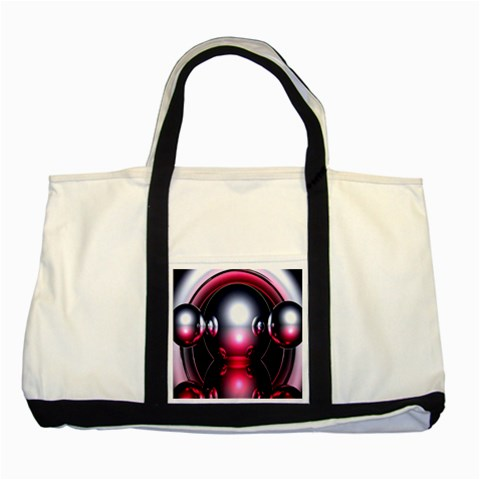 Red 3d  Computer Work Two Tone Tote Bag