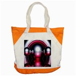 Red 3d  Computer Work Accent Tote Bag Front