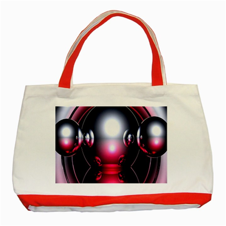 Red 3d  Computer Work Classic Tote Bag (Red)