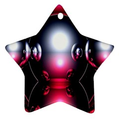 Red 3d  Computer Work Star Ornament (Two Sides)
