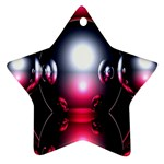 Red 3d  Computer Work Star Ornament (Two Sides)  Back