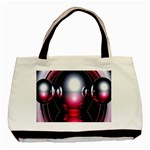 Red 3d  Computer Work Basic Tote Bag (Two Sides) Back