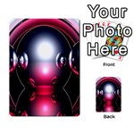 Red 3d  Computer Work Multi-purpose Cards (Rectangle)  Back 13