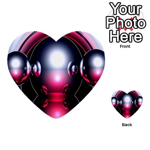 Red 3d  Computer Work Multi-purpose Cards (Heart)