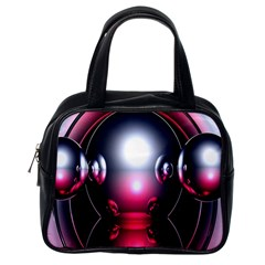 Red 3d  Computer Work Classic Handbags (One Side)