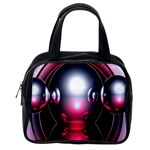 Red 3d  Computer Work Classic Handbags (One Side) Front