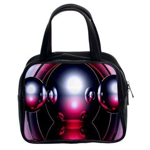 Red 3d  Computer Work Classic Handbags (2 Sides)