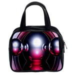 Red 3d  Computer Work Classic Handbags (2 Sides) Front