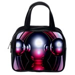 Red 3d  Computer Work Classic Handbags (2 Sides) Back