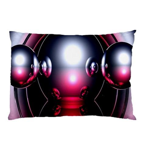 Red 3d  Computer Work Pillow Case