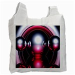 Red 3d  Computer Work Recycle Bag (Two Side)  Front