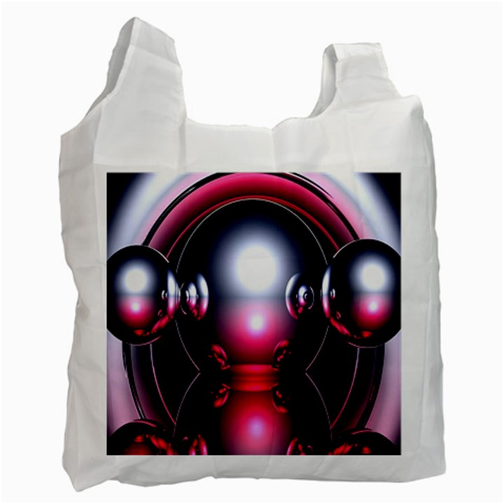 Red 3d  Computer Work Recycle Bag (Two Side)