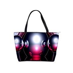 Red 3d  Computer Work Shoulder Handbags