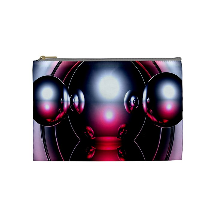 Red 3d  Computer Work Cosmetic Bag (Medium)