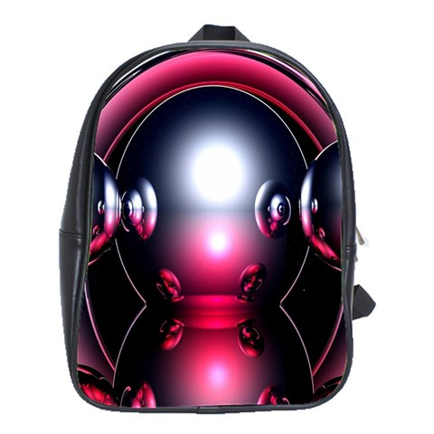 Red 3d  Computer Work School Bags(Large)