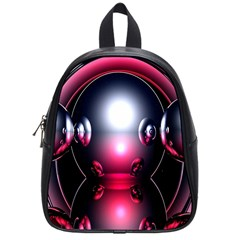 Red 3d  Computer Work School Bags (Small)