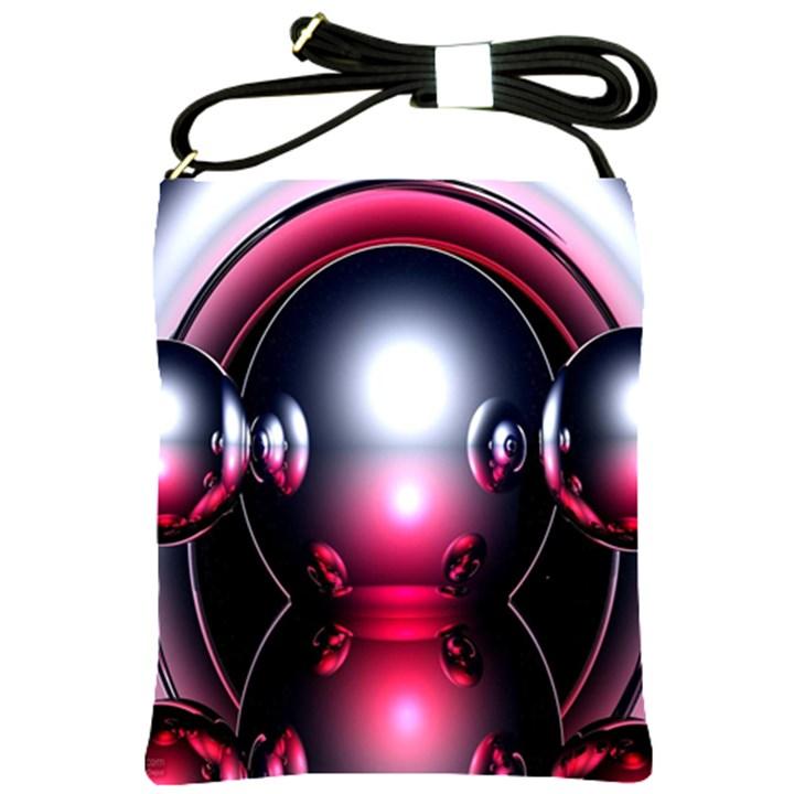 Red 3d  Computer Work Shoulder Sling Bags