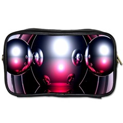Red 3d  Computer Work Toiletries Bags 2-Side