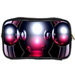 Red 3d  Computer Work Toiletries Bags 2-Side Front