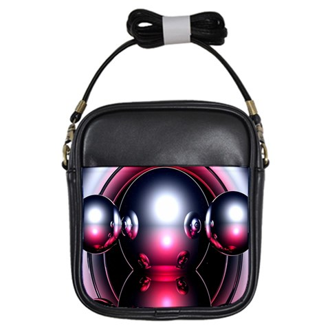Red 3d  Computer Work Girls Sling Bags