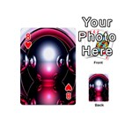 Red 3d  Computer Work Playing Cards 54 (Mini)  Front - Heart8