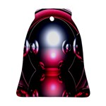 Red 3d  Computer Work Bell Ornament (2 Sides) Back