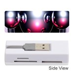 Red 3d  Computer Work Memory Card Reader (Stick)  Front