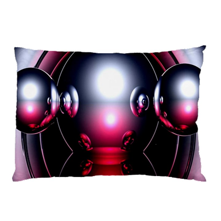 Red 3d  Computer Work Pillow Case (Two Sides)