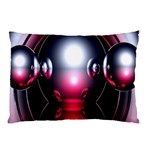 Red 3d  Computer Work Pillow Case (Two Sides) Back