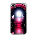 Red 3d  Computer Work Apple iPhone 4 Case (Clear) Front