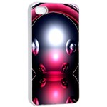 Red 3d  Computer Work Apple iPhone 4/4s Seamless Case (White) Front
