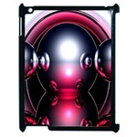 Red 3d  Computer Work Apple iPad 2 Case (Black) Front