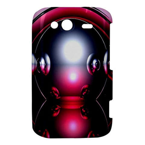 Red 3d  Computer Work HTC Wildfire S A510e Hardshell Case