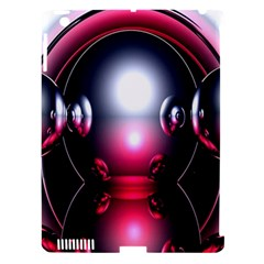 Red 3d  Computer Work Apple iPad 3/4 Hardshell Case (Compatible with Smart Cover)