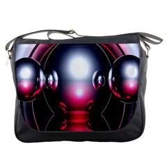 Red 3d  Computer Work Messenger Bags