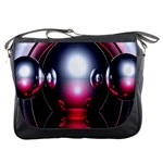 Red 3d  Computer Work Messenger Bags Front