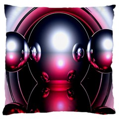 Red 3d  Computer Work Large Cushion Case (One Side)