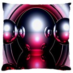 Red 3d  Computer Work Large Cushion Case (One Side) Front