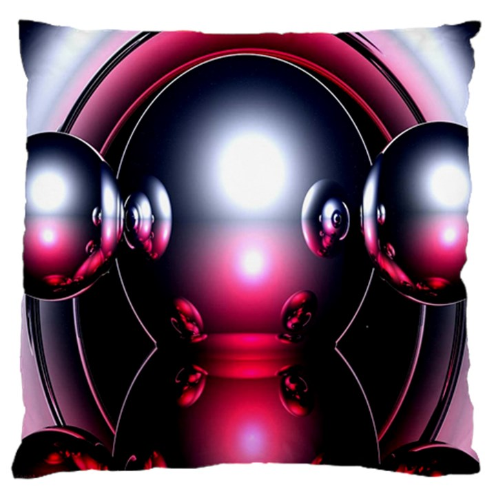 Red 3d  Computer Work Large Cushion Case (Two Sides)
