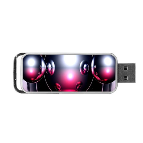 Red 3d  Computer Work Portable USB Flash (One Side)
