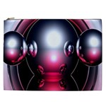 Red 3d  Computer Work Cosmetic Bag (XXL)  Front