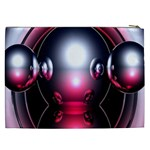Red 3d  Computer Work Cosmetic Bag (XXL)  Back