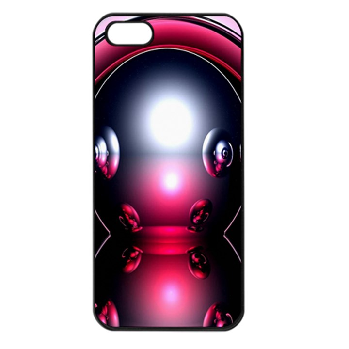 Red 3d  Computer Work Apple iPhone 5 Seamless Case (Black)
